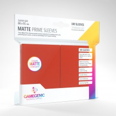 Gamegenic Matte Prime Sleeves 100 Red