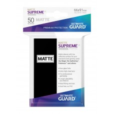 Ultimate Guard Supreme UX Sleeves Matte Black 50