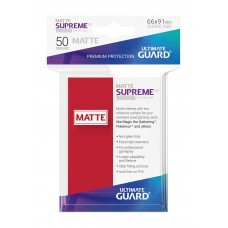 Ultimate Guard Supreme UX Sleeves Matte Red 50