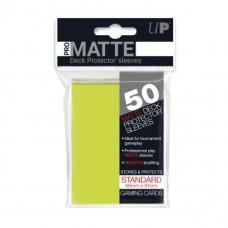 Ultra Pro Deck Protectors Pro-Matte 50 - Bright Yellow