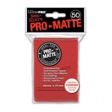 Ultra Pro Deck Protectors Pro-Matte 50 - Red