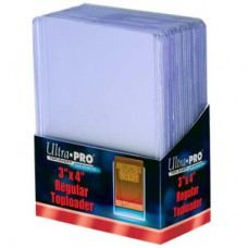 Ultra Pro 25 Toploaders Clear Regular